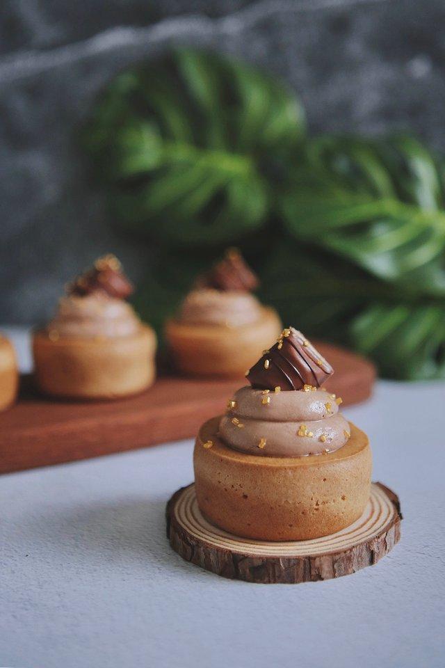 Nutella Mochi Cupcake
